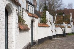 Doors of the Bruges beguinage Royalty Free Stock Photos