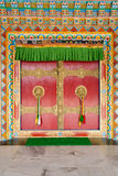 The doors of the Buddhist temple Royalty Free Stock Images
