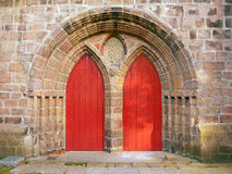 Doors at the cathedral church of St Machar, Aberdeen, Scotland Royalty Free Stock Photo