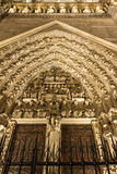 The doors of cathedral Notre Dame, Paris, France. Stock Photography