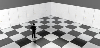 Doors chessboard Royalty Free Stock Photo