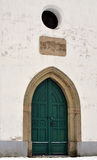 Doors of the church. View of the old door of the church, the city Ivancice, Czech Republic Stock Photo