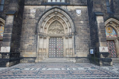 The doors of the church of Saints Peter and Paul in Visegrad. Pr Stock Images