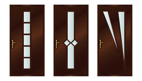 Doors. Classic interior wooden doors - realistic vector illustration - eps10 Royalty Free Stock Image