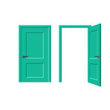 Doors closed and open Royalty Free Stock Photo
