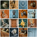 Doors collage Stock Image