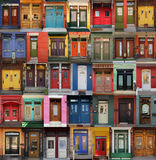 Doors collage. Collage of old and colorful doors from Montreal, Canada Stock Photography