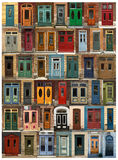 Doors collage from Quebec city in Canada Royalty Free Stock Photography