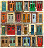 Doors collage from Quebec city in CAnada Royalty Free Stock Image