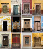 Doors collection. Collection of doors from several cities of Mexico royalty free stock photos