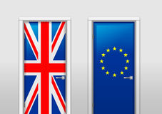 Doors with colors of flags Royalty Free Stock Photo