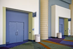 Doors in the Convention Center Royalty Free Stock Photo
