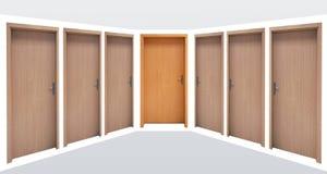 Doors in a corridor Royalty Free Stock Photos
