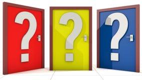 Doors Decision Stock Photo
