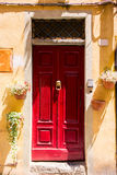 Doors detail from the medieval town Lucca. In italy Stock Photo