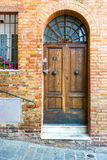 Doors detail from the medieval town Siena. Italy Stock Photography