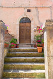 Doors detail from the medieval town Sovana. Tuscany,Italy Stock Images