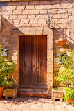 Doors detail from the medieval town Sovana. Tuscany,Italy Stock Photo