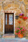 Doors detail from the medieval town Sovana. Tuscany,Italy Stock Image