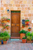 Doors detail from the medieval town Sovana. Tuscany,Italy Royalty Free Stock Photo