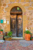 Doors detail from the medieval town Sovana. Tuscany,Italy Royalty Free Stock Photography