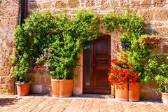 Doors detail from the medieval town Sovana. Tuscany,Italy Royalty Free Stock Image