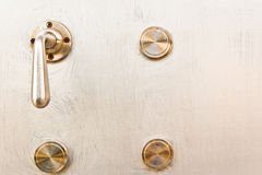 Doors and door knob Royalty Free Stock Photo