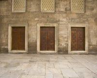 Doors doors doors. Doors within the interior courtyard of the Blue Mosque (Istanbul Stock Photography