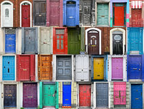 Doors of Dublin, Ireland Stock Images