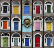 Doors - Dublin - Republic of Ireland Stock Images