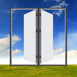 Doors on the field Royalty Free Stock Image