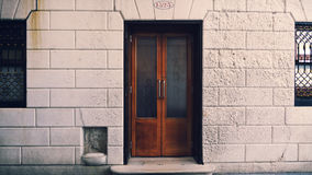 Harrys Bar / Harrys Bar in Venice Italy Front Door. Front entrance to Harry`s Bar in Venice, Italy stock photography
