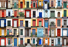 Doors - Helsingor, Denmark. Series of colorful, beautiful doors