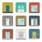 Doors icons set. Royalty Free Stock Photos