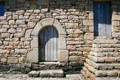 Doors In Old Breton House Royalty Free Stock Images