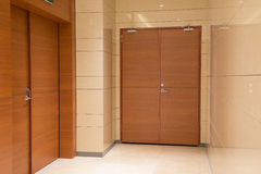Doors inside commercial building Royalty Free Stock Photo