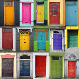 Doors of ireland. Colorful doors of  ireland. These doors are all from a small town called Dingle  at the west coast   of ireland Royalty Free Stock Images