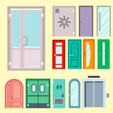 Doors isolated vector illustration entrance doorway home house interior exit design architecture entry set enter object Royalty Free Stock Photo