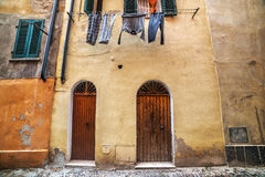Doors in an italian old town Royalty Free Stock Photo