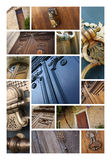 Doors and knockers Royalty Free Stock Images