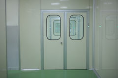 Doors in a laboratory Royalty Free Stock Images