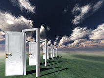Doors in Landscape Royalty Free Stock Photography