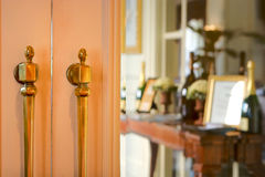 Doors leading into an elegant restaurant Royalty Free Stock Photo
