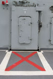 Doors lift in the boat in thai battleship. Royalty Free Stock Photography