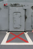 Doors lift in the boat in thai battleship. Stock Images