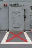 Doors lift in the boat in thai battleship. Doors lift in the boat Stock Images