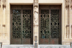The doors of the Main Tower at the Washington National Cathedral. The doors at the entrance to the Main Tower of the Washington National Cathedral, Washington DC Stock Photography