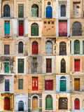 Doors of Malta. Multi different impressions of doors from Malta Royalty Free Stock Images