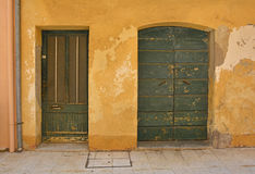 Doors in Marano Lagunare Royalty Free Stock Images