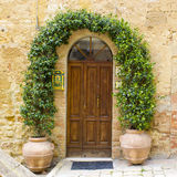 Doors from the medieval town Pienza in Italy Royalty Free Stock Photos
